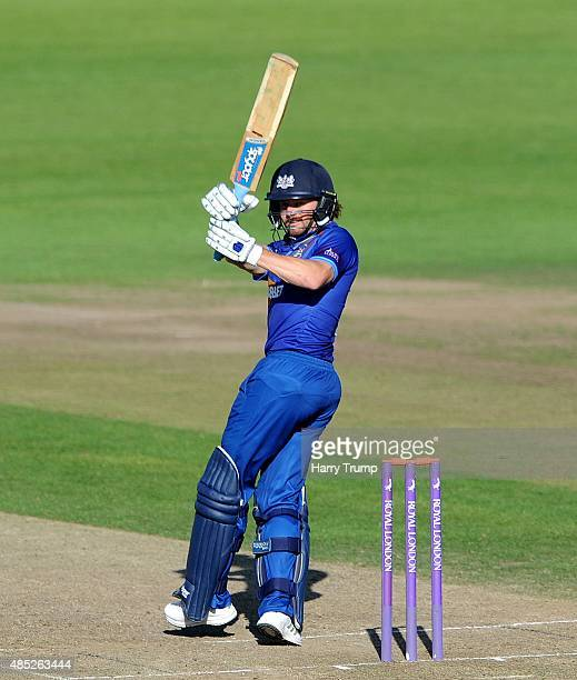 Gloucestershire's Hamish Marshall pulls during the Royal London OneDay Cup Quarter Final between Gloucestershire and Hampshire at The County Ground...