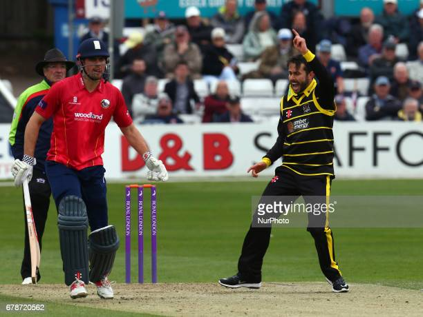 Gloucestershire's Jack Taylor during Royal London OneDay Cup match between Essex CCC and Gloucestershire CCC at The Cloudfm County Ground Chelmsford...