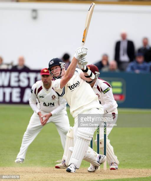 Gloucestershire's Liam Norwell batting during the LV= County Championship Division Two match at The County Ground Bristol