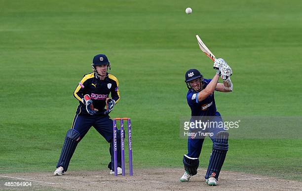 Gloucestershire's Michael Klinger drives during the Royal London OneDay Cup Quarter Final between Gloucestershire and Hampshire at The County Ground...