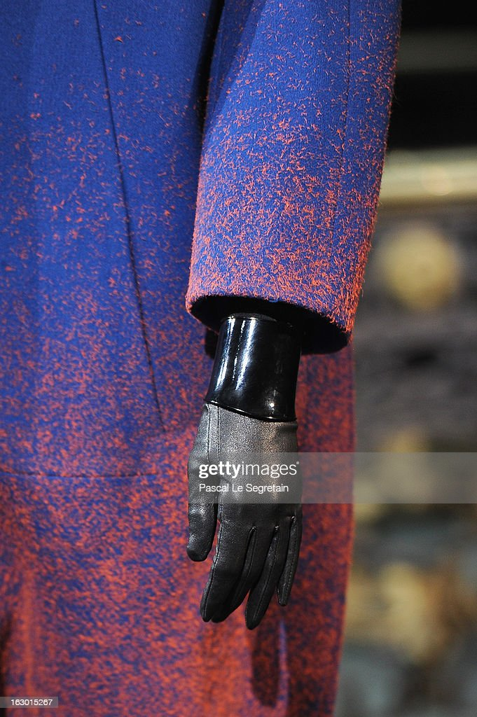 A glove detail is seen as a model walks the runway during the John Galliano Fall/Winter 2013 Ready-to-Wear show as part of Paris Fashion Week at Le Centorial on March 3, 2013 in Paris, France.