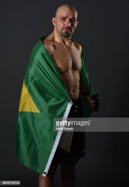 Glover Teixeira of Brazil poses for a portrait backstage during the UFC 208 event inside Barclays Center on February 11 2017 in Brooklyn New York