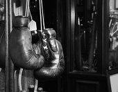 Gloves boxer vintage in Portobello Road.