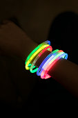 Glow sticks with hands