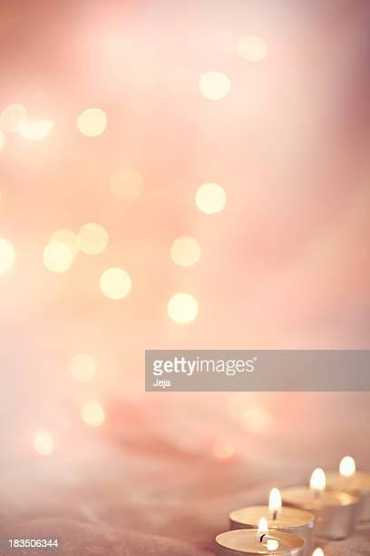Glühend Hintergrund mit Kerze Licht