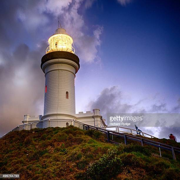 Glowing Byron Bay Lighthouse at Dusk