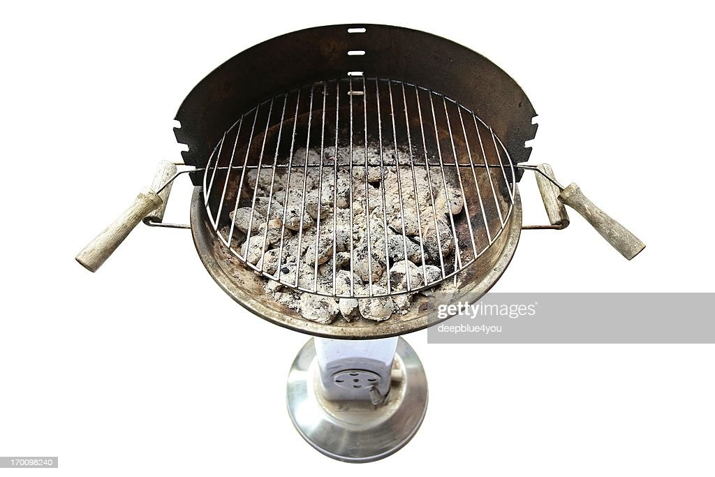 glowing charcoal briquets