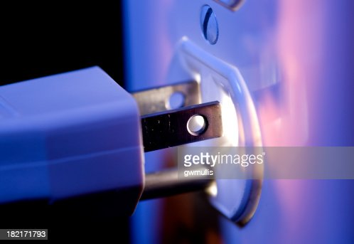 Glowing Electric Outlet and Plug