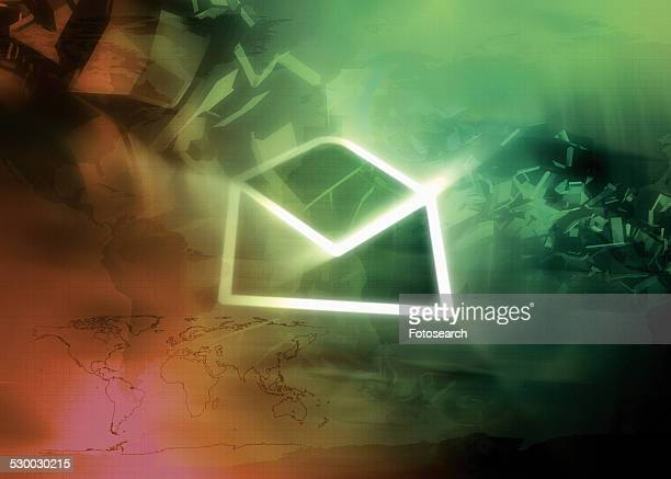 Glowing e-mail icon