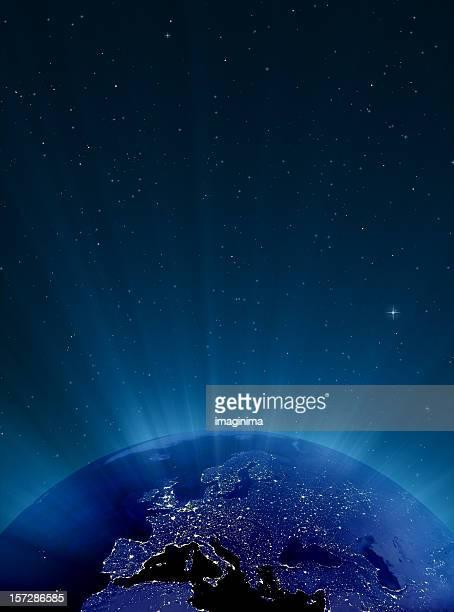 Glühende Erde bei Nacht-Serie-Europa
