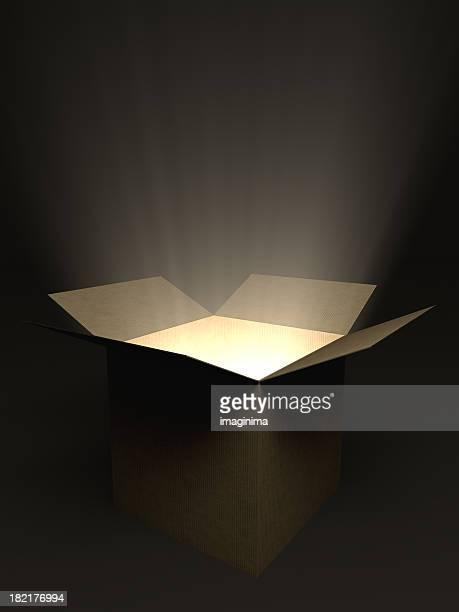 Glühend offenen Box