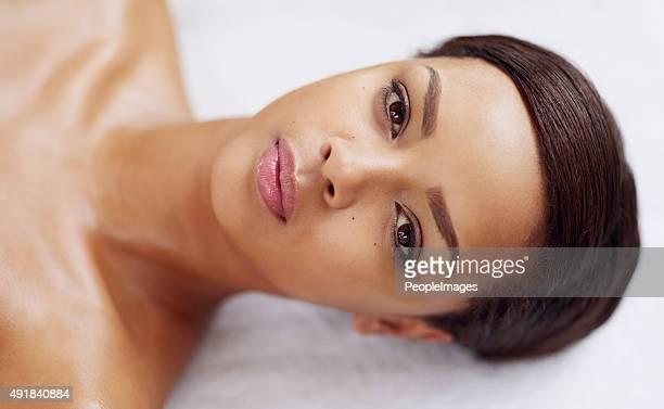 Éclat à la peau après le soin de spa