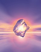 Glowing Stone, CG, 3D, Lens Flare