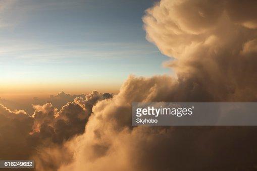 Glowing Tropical Cloudscape : Foto de stock