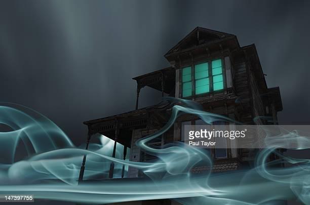 Glowing Vapor Surrounding House