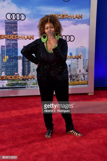 GloZell attends the premiere of Columbia Pictures' 'SpiderMan Homecoming' at TCL Chinese Theatre on June 28 2017 in Hollywood California