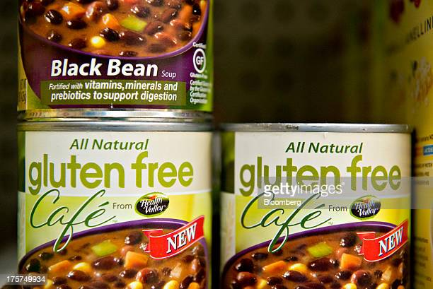 'Gluten Free' appears on cans of black bean soup at a supermarket in Princeton Illinois US on Wednesday Aug 7 2013 On Aug 2 the US Food and Drug...