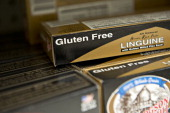 'Gluten free' appears on the packaging for linguine displayed for sale at a supermarket in Princeton Illinois US on Wednesday Aug 7 2013 The Food and...