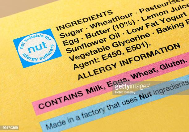 Gluten intolerance packaging