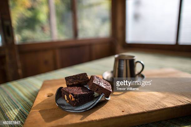 Gluten-free brownies on a plate