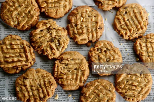 GlutenFree Peanut Butter Chocolate Chip Cookies recipe from Cooking Light on November 3 2016 Recipe package for national peanut butter month
