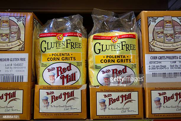 Glutenfree products are displayed for sale at the Bob's Red Mill and Natural Foods store in Milwaukie Oregon US on Tuesday April 8 2014 Bob's Red...