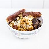 Glutinous Rice with Chinese Sausage