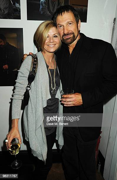 Glynis Barber and Michael Brandon attend the press night of 'Wet Weather Cover' at the Arts Theatre on April 7 2010 in London England