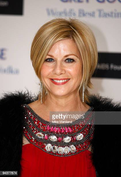 Glynis Barber attends the Grey Goose Character Cocktails winter fundraiser in aid of the Elton John AIDS Foundation at The Grosvenor House Hotel on...