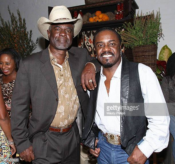 Glynn Turman and Reginald T Dorsey attend a PreEmmy Food Tasting Mixer hosted by 'Grey's Anatomy' Star James Pickens Jr and wife Gina with Kim Crooms...