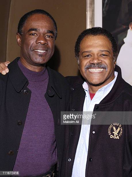 Glynn Turman and Ted Lange during NAACP 14th Annual Theatre Award Nominees Press Conference at Hollywood Roosevelt Hotel in Hollywood California...