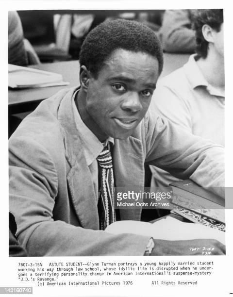 Glynn Turman sitting in class in a scene from the film 'JD's Revenge' 1976