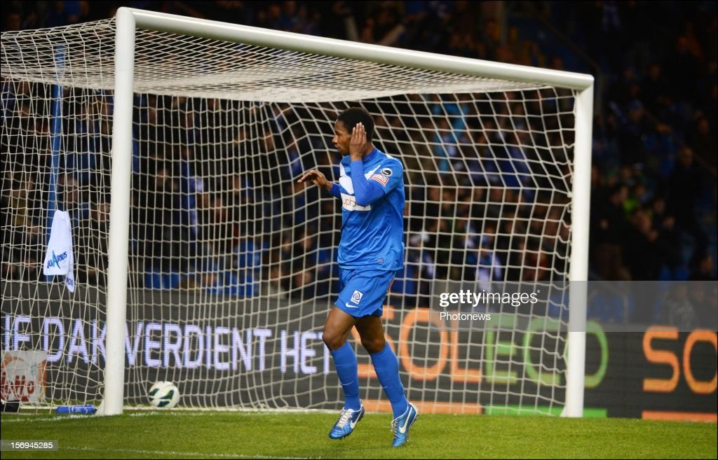 Glynor Plet of Genk in action during the Jupiler League match between KRC Genk and Oud Heverlee Leuven OHL on November 25, 2012 in Genk, Belgium.