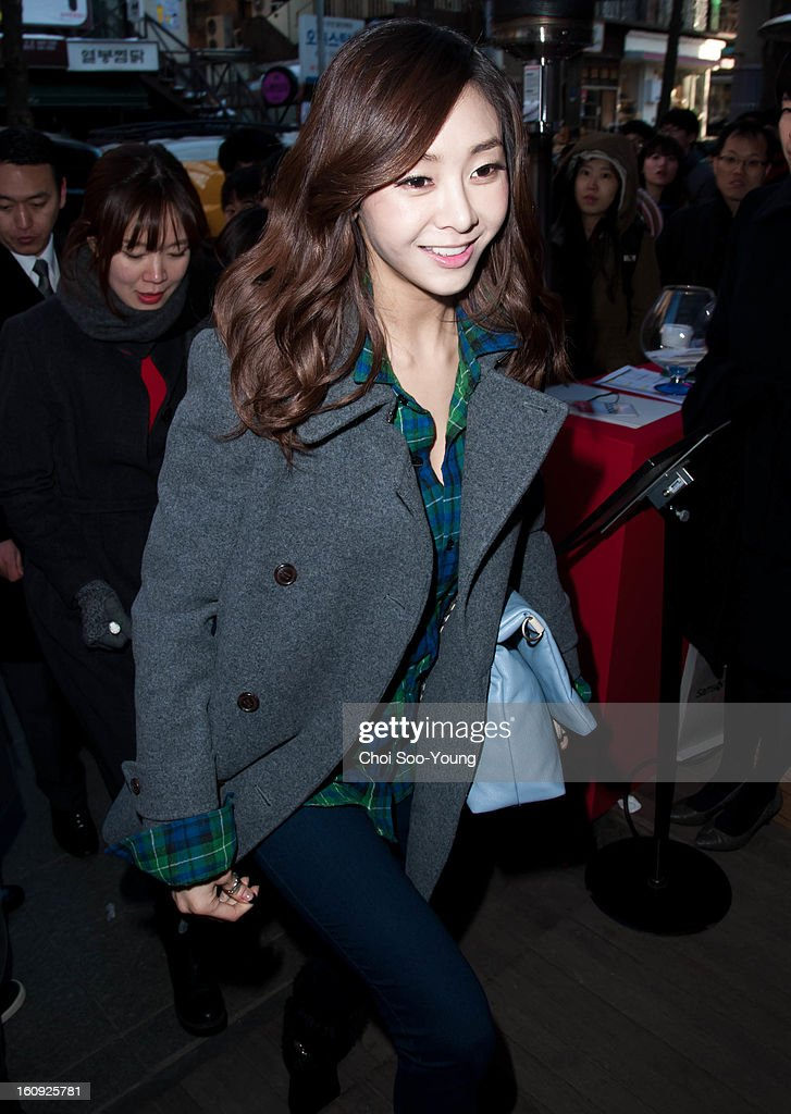 G-Na attends Samsonite RED 2013 S/S Launch Event at Coffee Smith on February 7, 2013 in Seoul, South Korea.