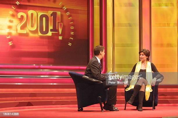 Günther Jauch Maxi Biewer RTLShow '2001 Menschen Bilder Emotionen' Hürth Studio 8 Bühne Interview