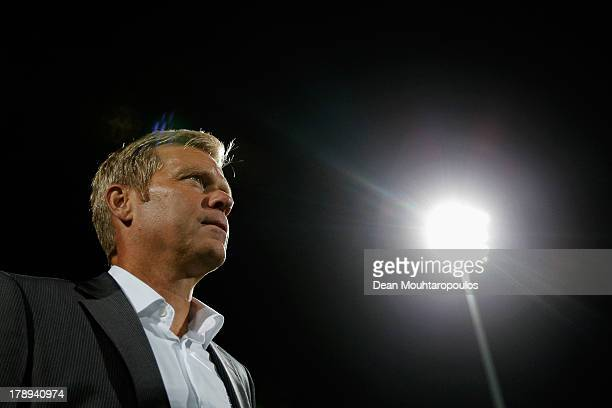 Go Ahead Eagles Manager / Head Coach Foeke Booy looks on during the Eredivisie match between RKC Waalwijk and Go Ahead Eagles at the Mandemakers...