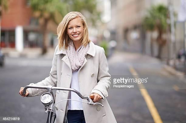 Ich überall mit dem Fahrrad