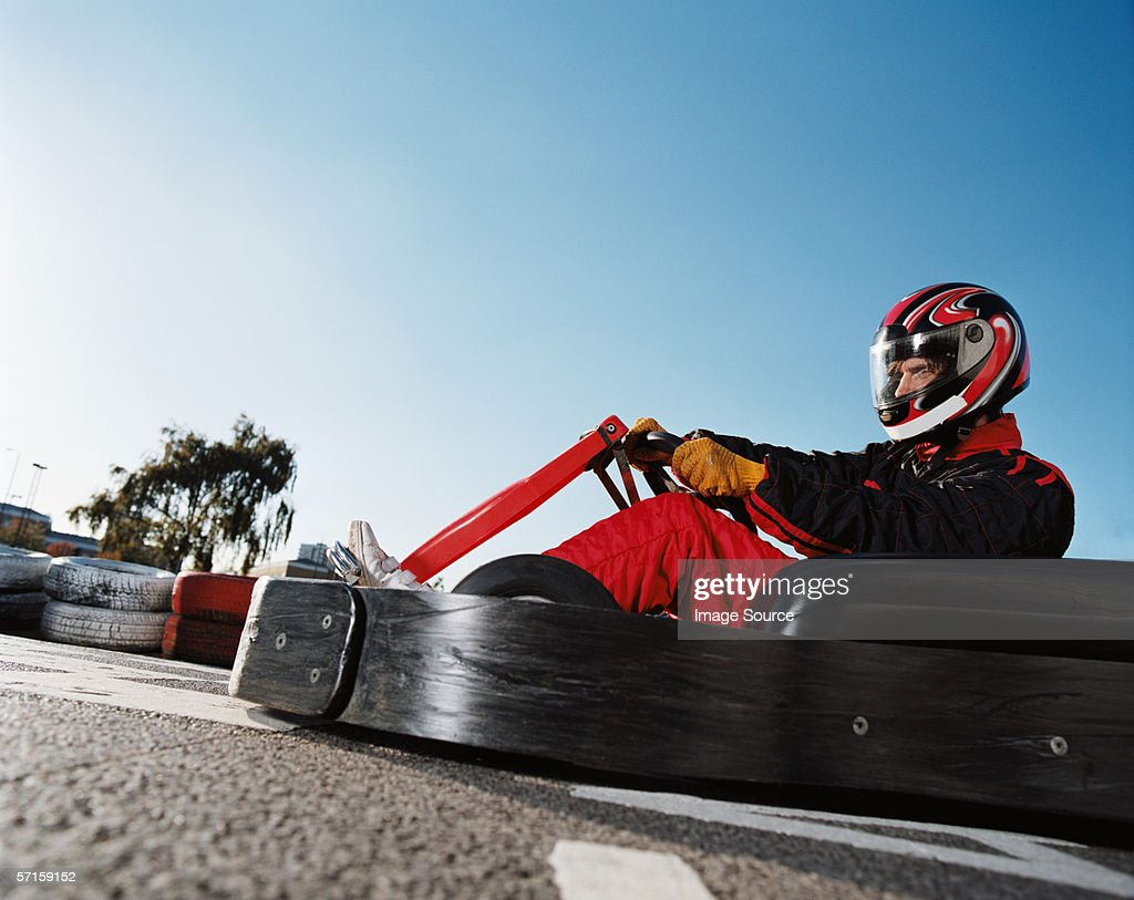 Go kart racing : Stock Photo