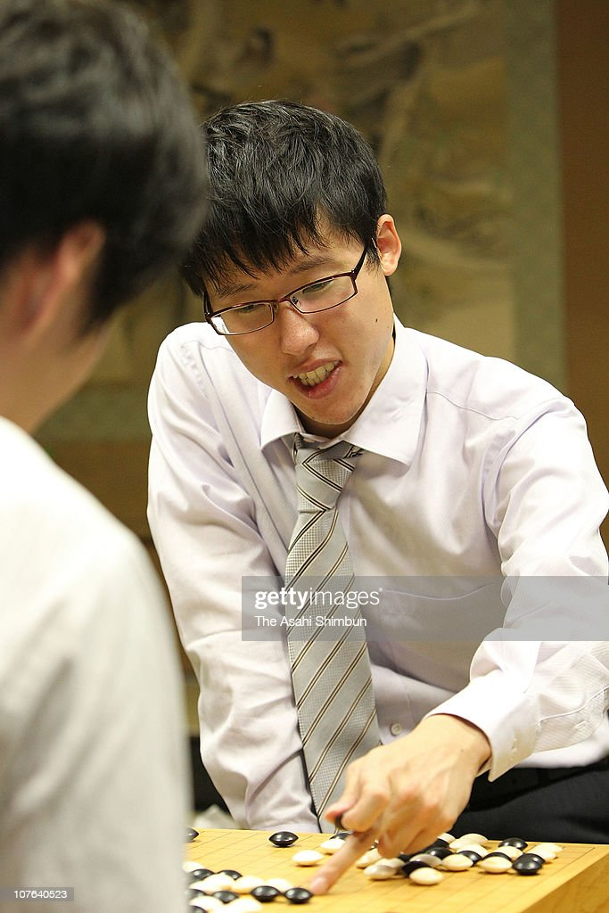 Go player Yuta Iyama is seen during the fourth game of Meijin Title Tournament against Shinji takao on October 7, 2010 in Hadano, Japan.