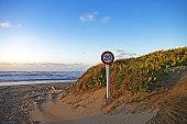 Go slowly on the beach