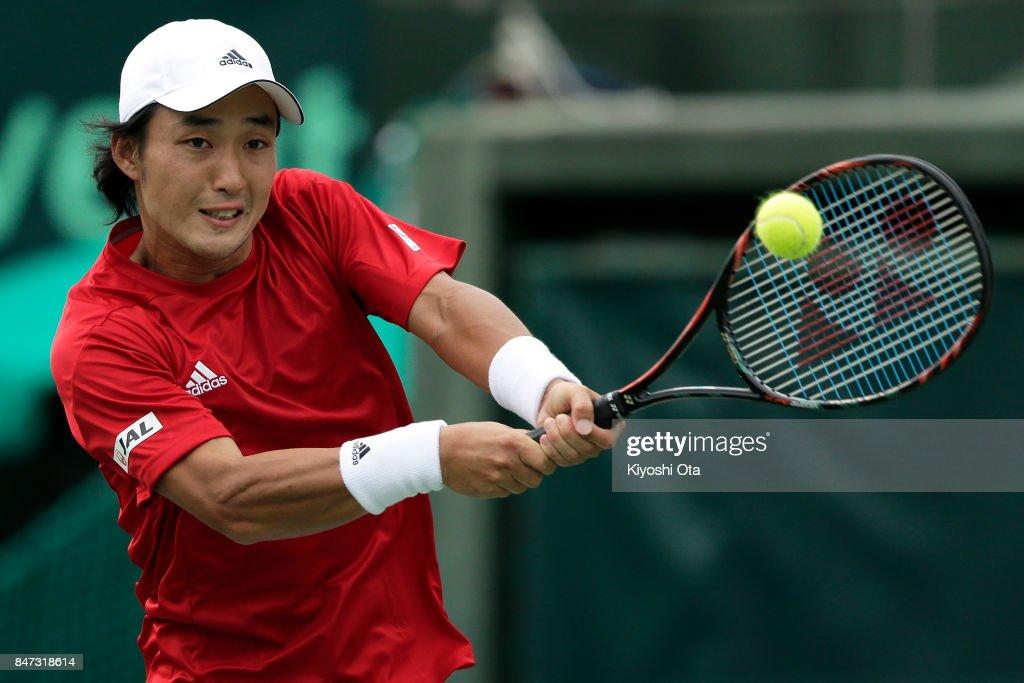 Japan v Brazil - Davis Cup World Group Play-off Day 1