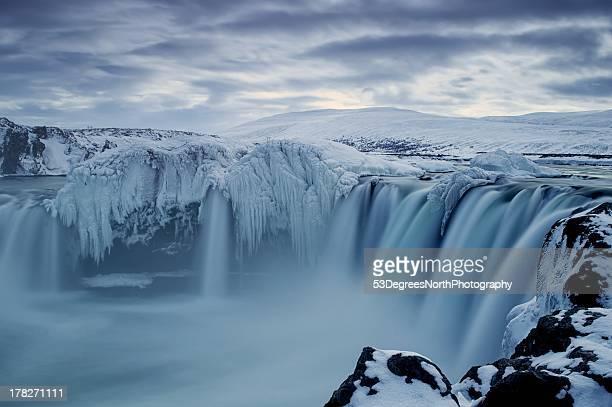 Go?afoss, a frozen Icelandic waterfall