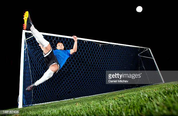 Goal keeper at night