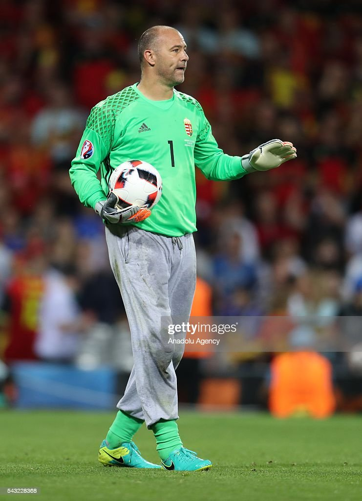 Goal keeper Gabor Kiraly of Hungary in action during the UEFA Euro 2016 round of 16 football match between Hungary and Belgium at Stadium Municipal in Toulouse, France on June 26, 2016.