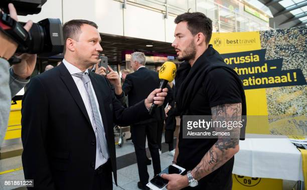 Goal keeper Roman Buerki of Borussia Dortmund is giving interviews before flying to Nicosia for the UEFA Champions League First Qualifying Round 1st...