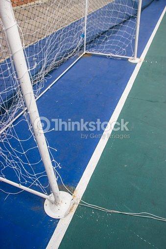 Objetivo de los NET futsal de futsal campo.   Foto de stock 475fd0b9c48f7