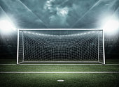 3d modelled and rendered goalpost background