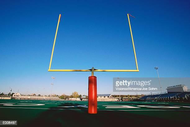 Goal posts on football field