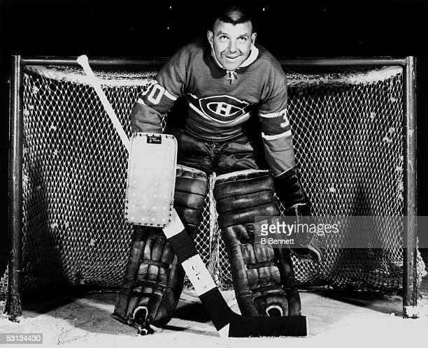 Goalie Gump Worsley of the Montreal Canadiens poses for a portrait circa 1963