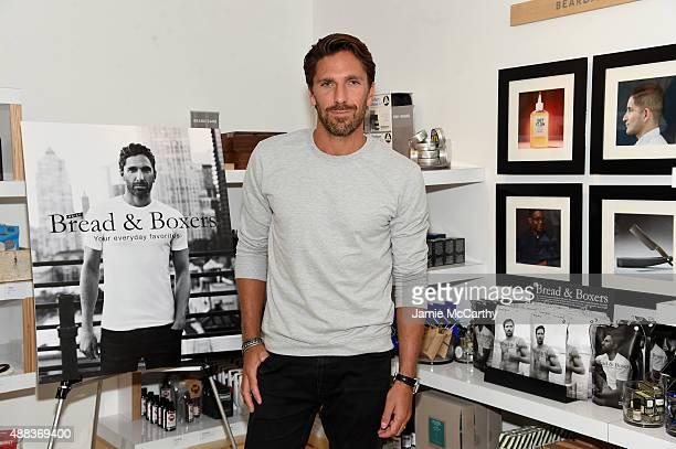 NHL goalie Henrik Lundqvist attends Henrik Lundqvist Birchbox Man In Store Event at Birchbox on September 15 2015 in New York City